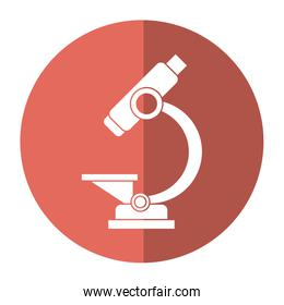laboratory microscope equipment icon shadow