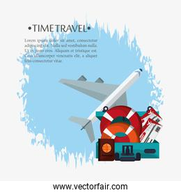 time travel poster promotion vacation