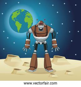 robot automation space earth