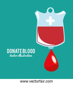 donate drop blood bag symbol