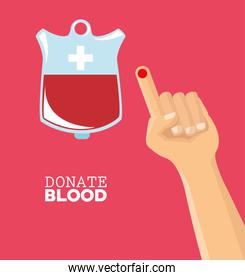 donate blood hand drop test