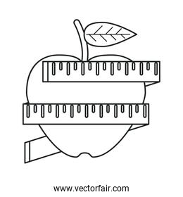 apple measuring tape lose weight outline