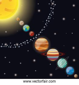 solar system universe space
