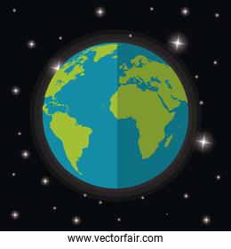 earth planet world stars space
