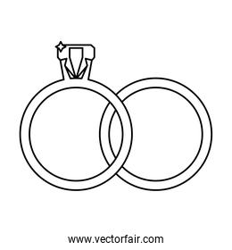 wedding rings jewelry outline