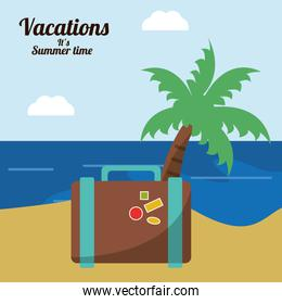 vacations in paradise suitcase palm beach