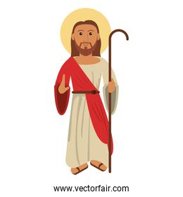 jesus christ blessed with stick