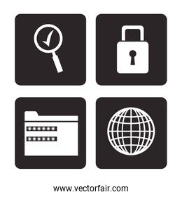 set cyber security prootection data technology