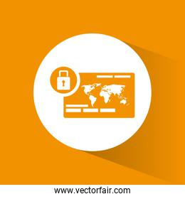 cyber secuirty payment banking padlock