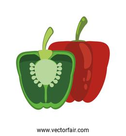 green and red pepper food healthy image