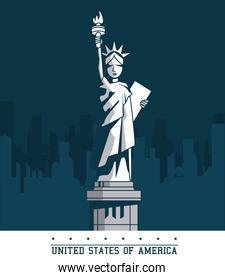 statue of liberty united states USA new york city emblem
