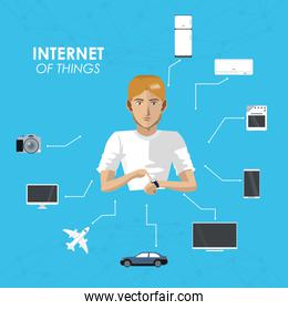 internet of things man wearable technology device equipment items