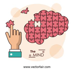 the mind hand brain puzzle piece jigsaw