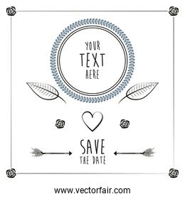 save the date romantic card wedding heart anniversary template
