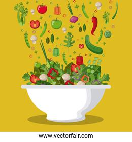 salad mixed vegetables diet food fall image