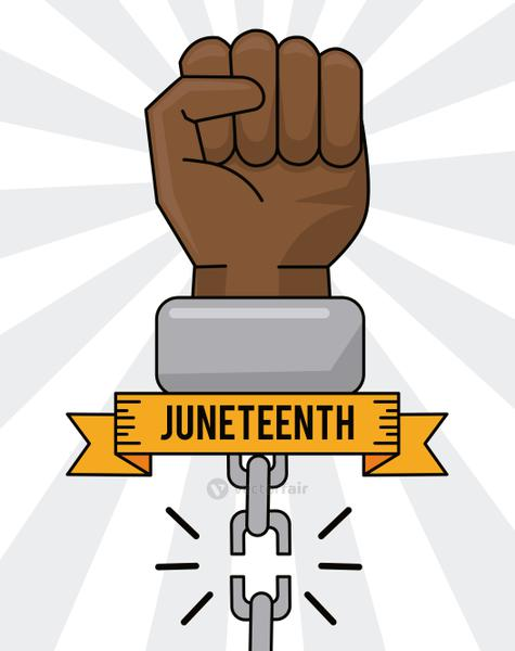 juneteenth day hand broken chain equality