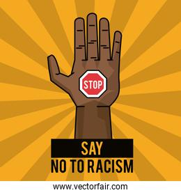 say no to racism stop poster campaign