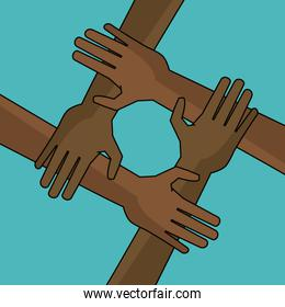 campaign freedom hand together anti racist