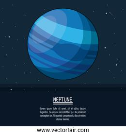 colorful poster with planet neptune