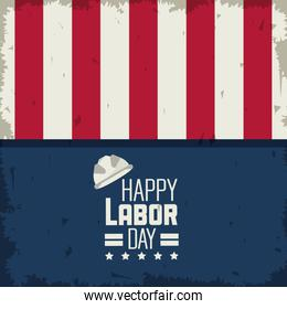 colorful poster of happy labor day with american flag colors