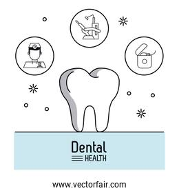 Dental care infographic