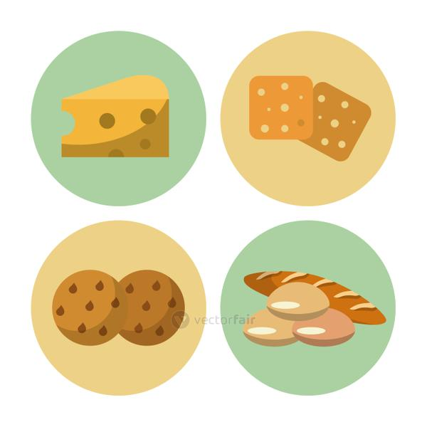 Carbohydrates food icons