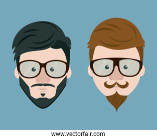 Hipster face collection
