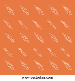 Carrot and peas background