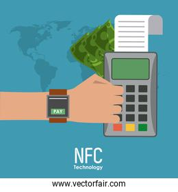 NFC technology icons
