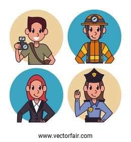 Worker cartoon icons