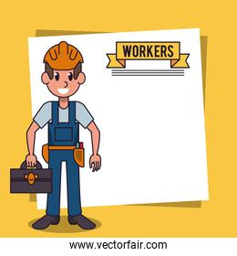 Workers and jobs cartoon