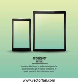 Smartphone and tablet technologies infographic