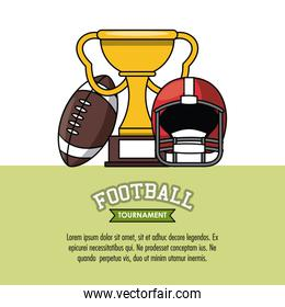 American football tournament infographic