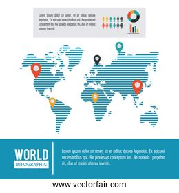 Earth world infographic