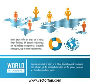 Earth world infographic population