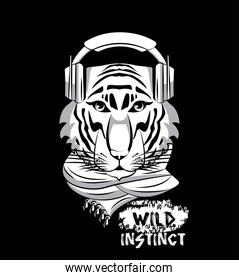 Hipster wild animal print for t shirt