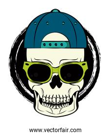 Cool skull print for tshirt