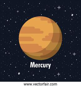 Mercury planet of milky way planet of milky way