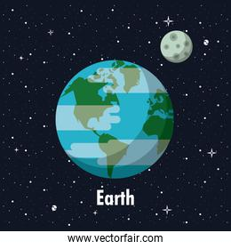 Earth planet of milky way