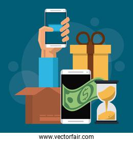 Online shopping from smartphone