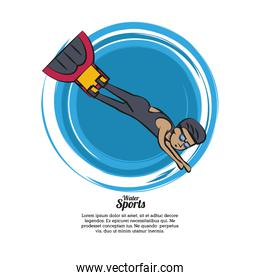 Water sports infographic
