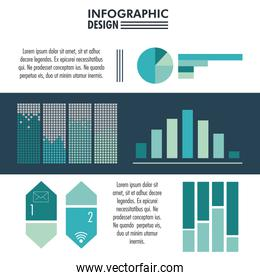 Infographic with statistics design