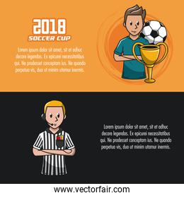 Soccer tournament infographic