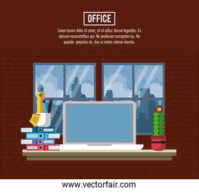 Office workplace concept