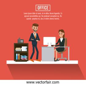 Business workers in office