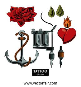 Set of tattoo drawings