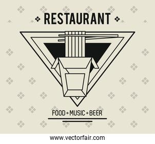 Restaurant food music and beer