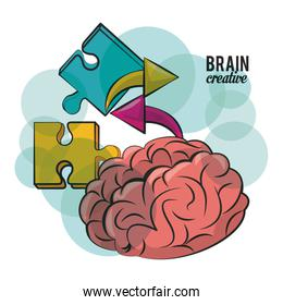 Brain creative concept icon vector ilustration