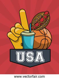 American sports and food