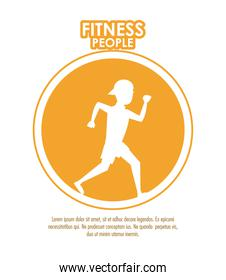 Fitness people poster